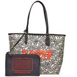 【COACH】Keith Haring聯名人形塗鴉雙面托特包(黑/白)