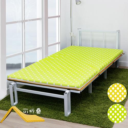 【KOTAS】 MIT日式冬夏大青透氣床墊冬夏三折-(兩色)-綠