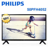 PHILIPS飛利浦 50吋 Full HD淨藍光液晶顯示器+視訊盒 50PFH4052