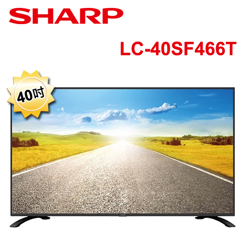 ★結帳更便宜★SHARP夏普 40吋FHD智能連網顯示器 LC-40SF466T