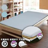 【KOTAS】3M吸濕排汗三折式冬夏兩用床墊-單人(兩色)-灰