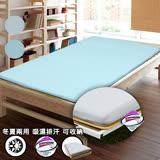 【KOTAS】3M吸濕排汗三折式冬夏兩用床墊-單人(兩色)-藍
