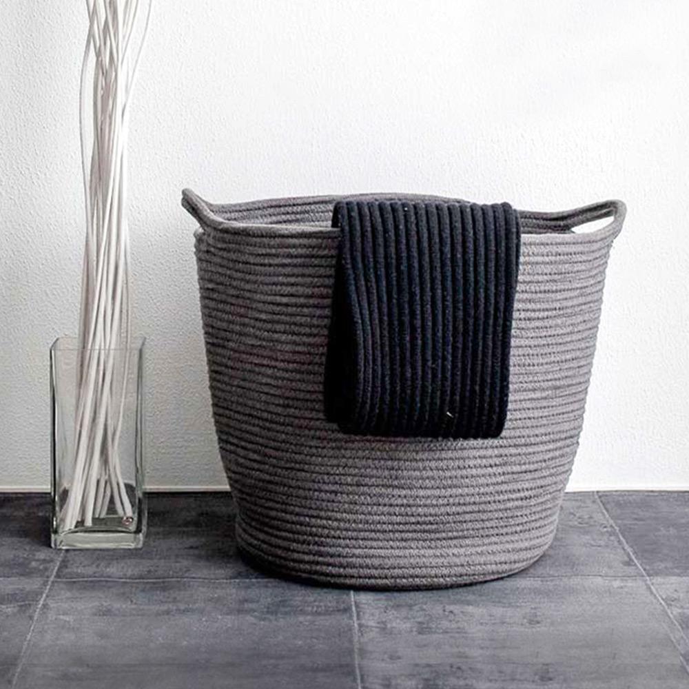手感棉線編織 大容量收納置物籃
