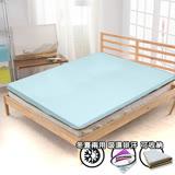 【KOTAS】3M吸濕排汗三折式冬夏兩用床墊-雙人(兩色)-藍