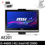 msi微星 AE201-094TW 20吋 i5-4460S Win7Pro 液晶電腦