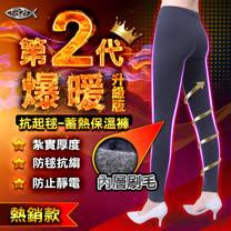 5B2F【五餅二魚】爆暖第2代~抗起毬蓄熱保溫褲-二件組