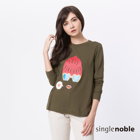 獨身貴族 Bonjour!摩登女士圖騰設計上衣(3色)