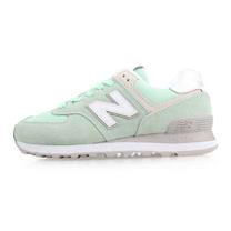 (女) NEWBALANCE 574系列 復古休閒鞋-B-NB N字鞋 淺綠白