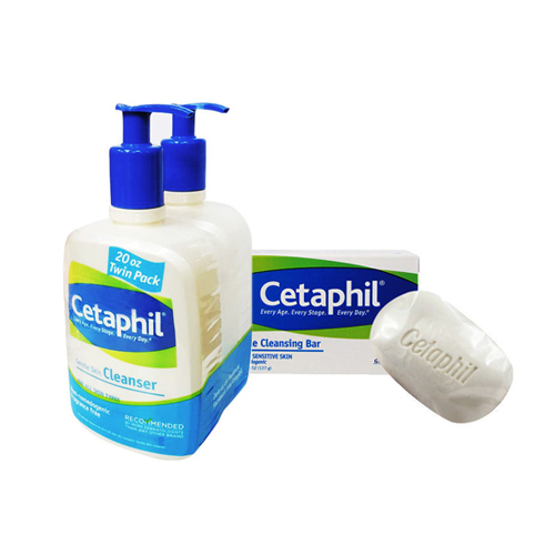 Cetaphil 舒特膚 溫和清潔乳 (20oz) 591ml 兩入組 加贈溫和潔膚凝脂 127g