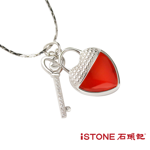 石頭記 項鍊 紅瑪瑙墜 鎖住愛情