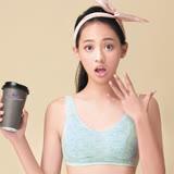 【嬪婷】學生內衣 環保咖啡紗AA罩杯內衣(歡樂藍綠)-柔軟棉材質- 少女成長第二階段