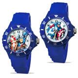 【迪士尼 】中型運動彩帶轉圈兒童錶 - Captain America 美國隊長 正義藍色 (2款任選)