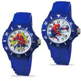 【Marvel-漫威】中型運動彩帶轉圈兒童錶 - Spider-Man 蜘蛛人 正義藍色 (2款任選)