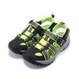(大童) LOTTO 護趾排水運動涼鞋 黑綠 LT6AKS3185 童鞋 鞋全家福