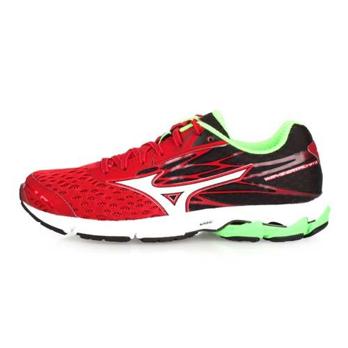(男) MIZUNO WAVE CATALYST 2 慢跑鞋-路跑 美津濃 紅黑綠