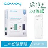 Coway空氣清淨機二年份濾網【綠淨力直立式 AP-1216L】
