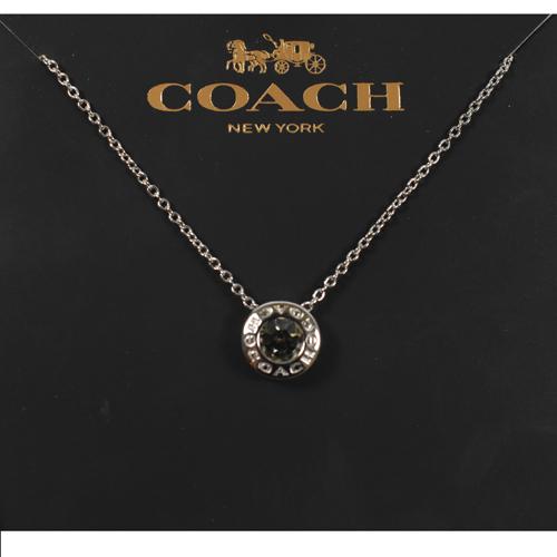 COACH  時尚新款經典LOGO項鍊.銀