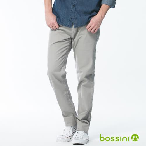 bossini男裝-修身卡其長褲02淺銀