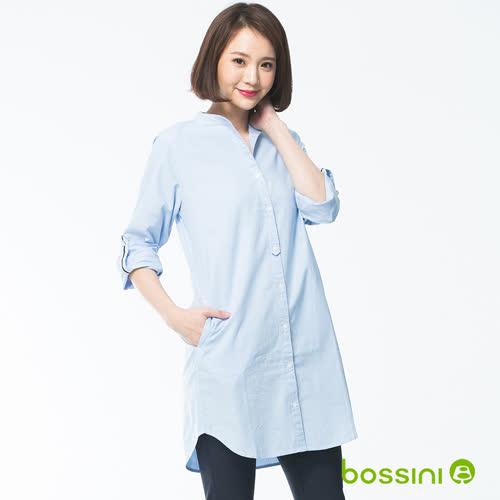 bossini女裝-長版長袖襯衫