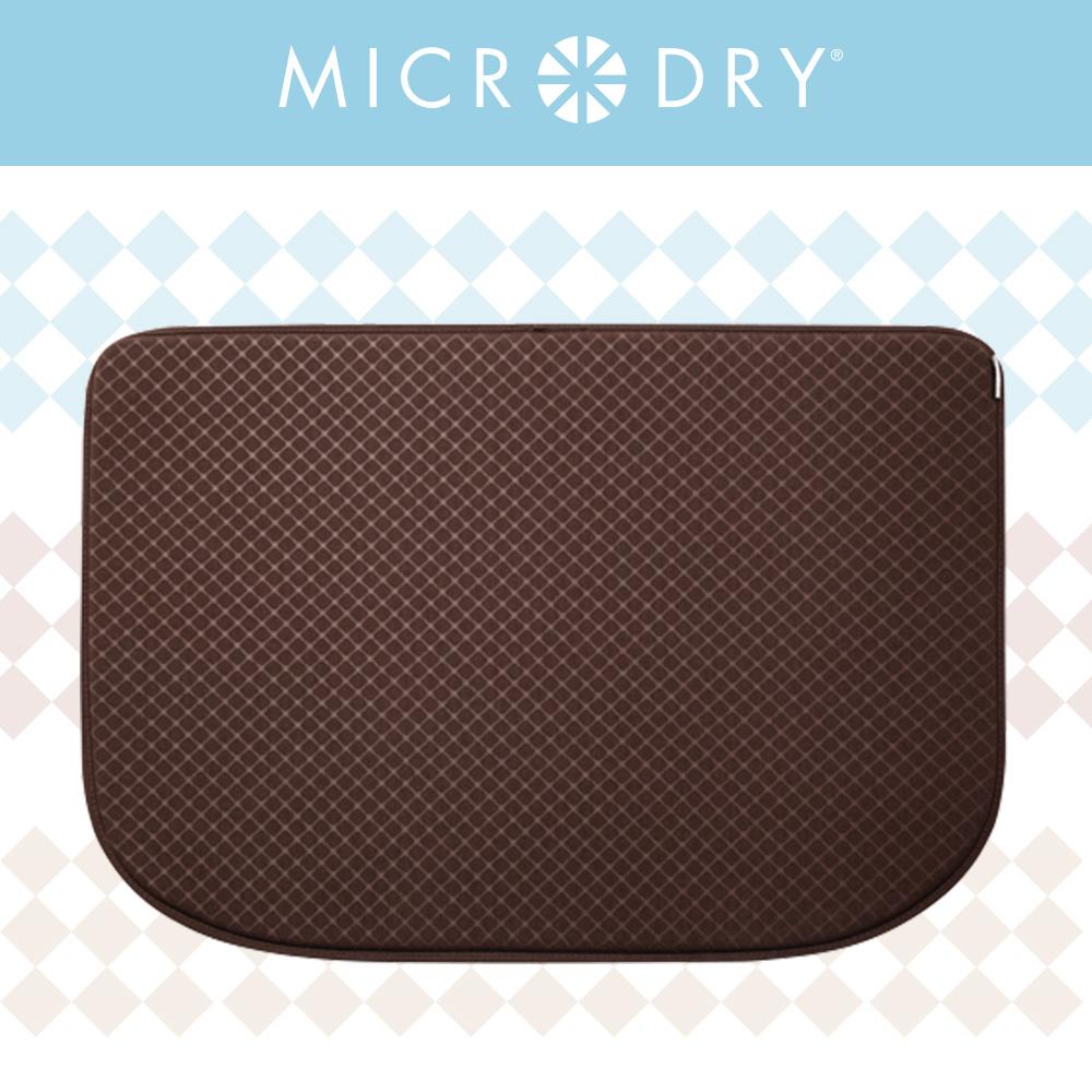 【MICRODRY紐約時尚地墊】網紋多功能地墊-冰咖啡