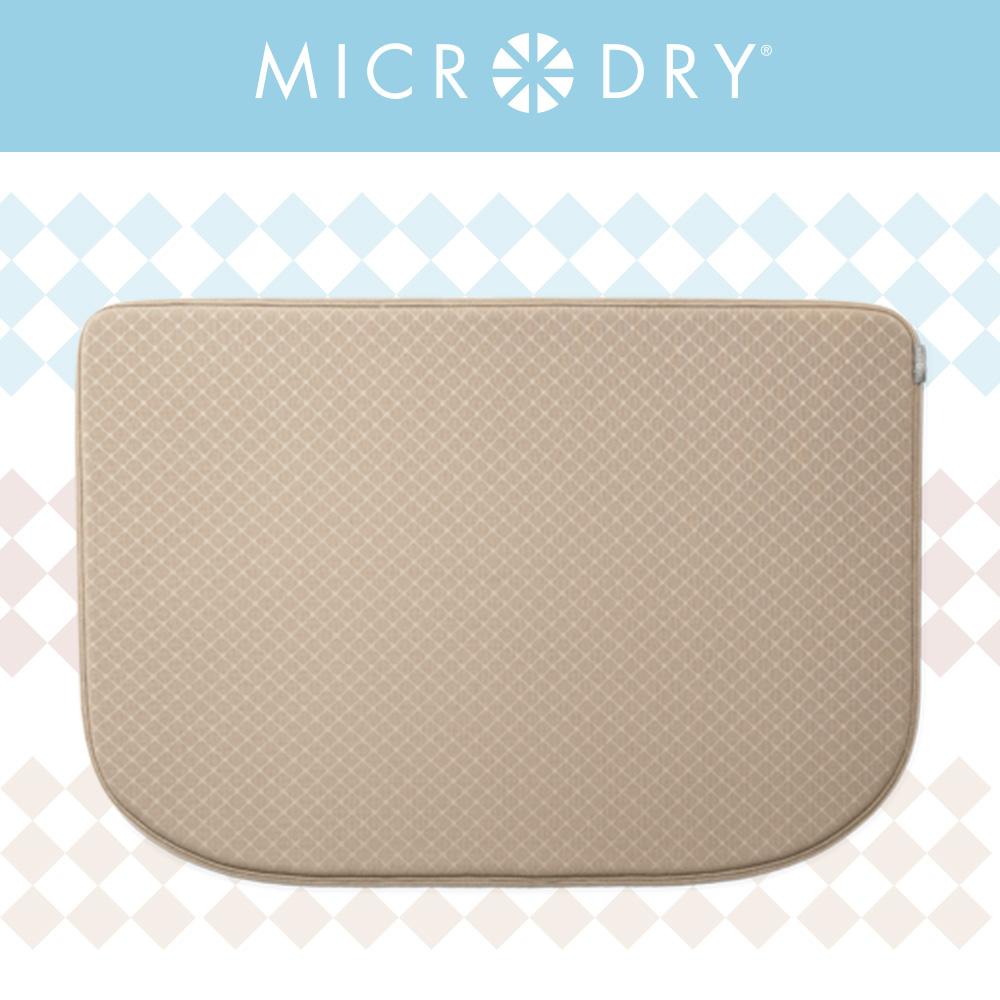 【MICRODRY紐約時尚地墊】網紋多功能地墊-亞麻色
