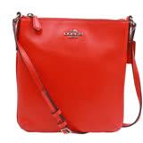 【COACH 】立體馬車LOGO防刮皮革斜背包 (  紅色 )