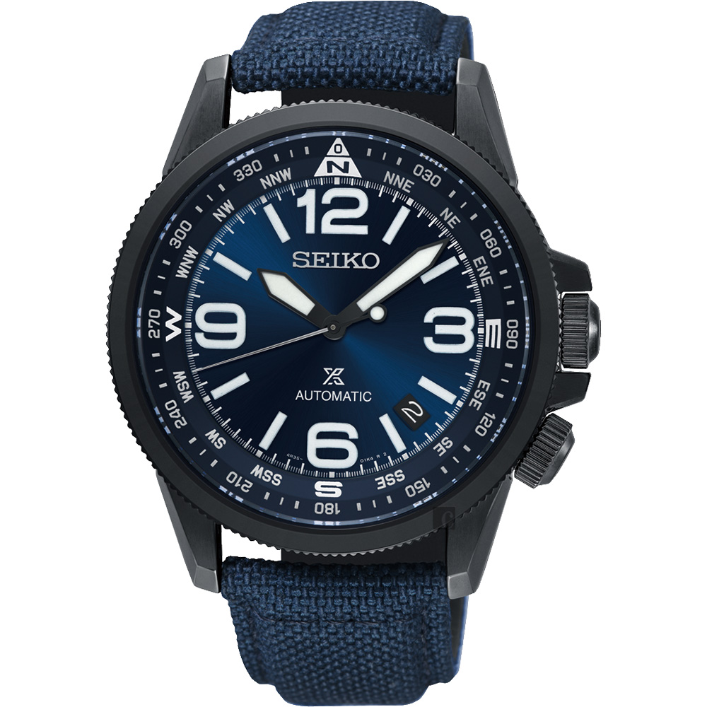 SEIKO精工 Prospex 空軍爭霸機械錶-藍/ 42mm 4R35-02N0B(SRPC31J1)