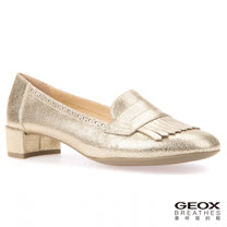GEOX - D CAREY C 仕女流蘇鞋 粗跟 金色