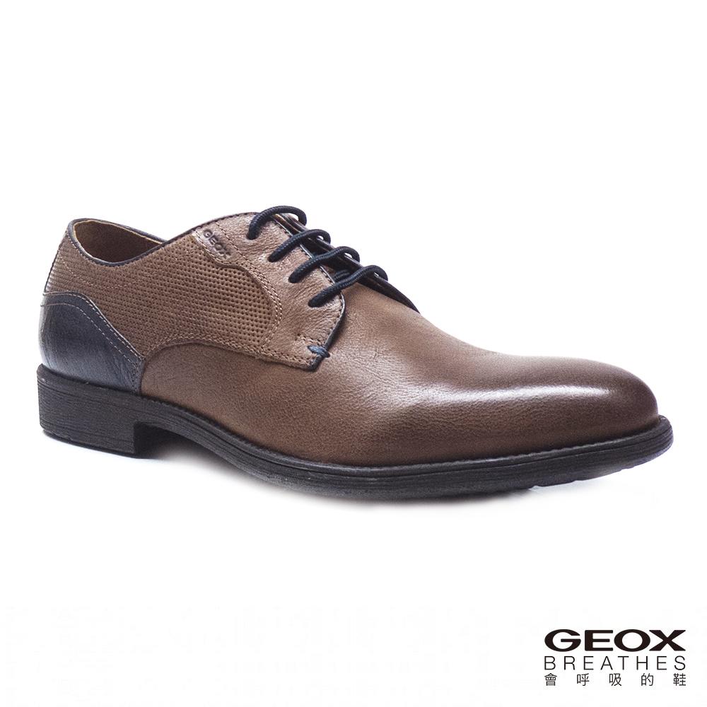 GEOX - U JAYLON E   紳士鞋 皮鞋 咖啡/深藍