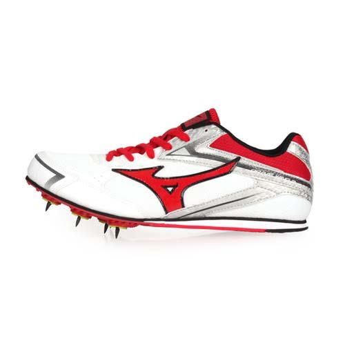 (男女) MIZUNO BRAVEWING 3 田徑釘鞋-競賽 美津濃 白紅