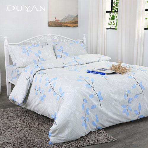 《DUYAN 竹漾》台灣製 100%頂級純棉雙人四件式鋪棉兩用被床包組-珍葉典藏