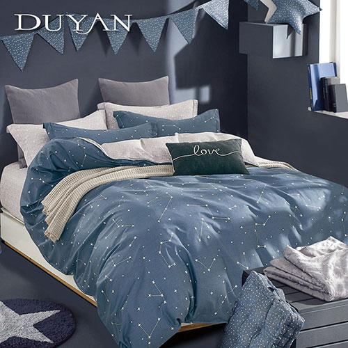 《DUYAN 竹漾》100%頂級純棉雙人加大四件式鋪棉兩用被床包組-星途 台灣製