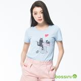 bossini女裝-印花短袖T恤06淡藍