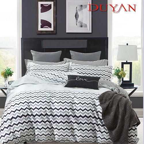 《DUYAN 竹漾》100%頂級純棉雙人加大四件式鋪棉兩用被床包組-舞動奇蹟 台灣製