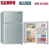 [促銷] SAMPO聲寶 100公升雙門冰箱 SR-A10G 含基本安裝