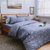 《DUYAN 竹漾》100%天絲絨雙人加大床包被套四件組-星語 台灣製