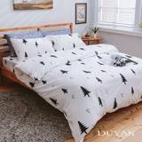《DUYAN 竹漾》100%天絲絨雙人加大床包被套四件組-極簡生活 台灣製