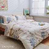 《DUYAN 竹漾》100%天絲絨雙人加大床包被套四件組-歐風情 台灣製