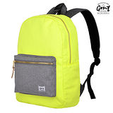 【GMT 挪威潮流品牌】撞色後背包 黃色 附15吋筆電夾層;登山包/雙肩背包