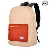 【GMT 挪威潮流品牌】撞色後背包 米色 附15吋筆電夾層;登山包/雙肩背包