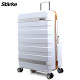 德國設計Starke 29吋 PC 鏡面鋁框硬殼行李箱 J系列-白色