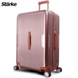 德國設計【Starke】萊茵 28吋PC+ABS耐撞TSA海關鎖拉鏈行李箱/旅行箱-玫瑰金色