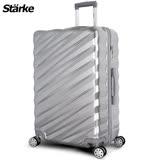 德國設計【Starke】薩爾 28吋PC+ABS耐撞TSA海關鎖拉鏈行李箱/旅行箱-銀色