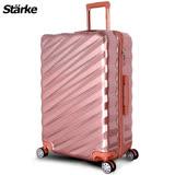 德國設計【Starke】薩爾 28吋PC+ABS耐撞TSA海關鎖拉鏈行李箱/旅行箱-玫瑰金色