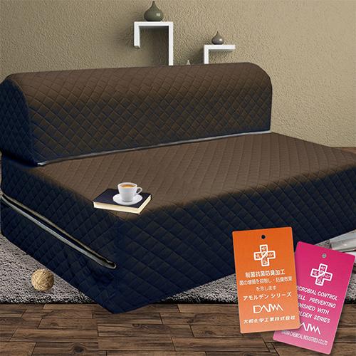 KOTAS 高週波防蹣抗菌彈簧沙發床椅 雙人 咖啡色