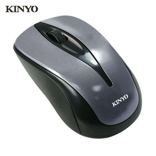 KINYO有線靜音藍光滑鼠LKM-505
