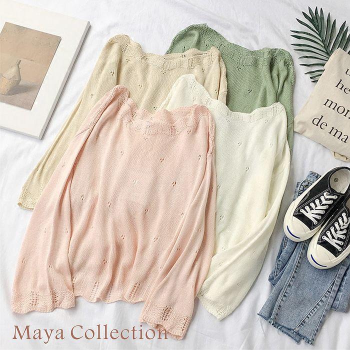 ~Maya Collection~針織縷空 薄料罩衫~4色20180301~2