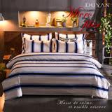 《DUYAN 竹漾》100%天絲絨雙人加大床包被套四件組-柏林之夜 台灣製