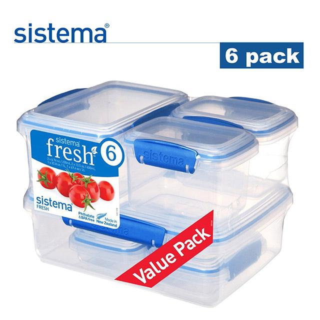 紐西蘭sistema 保鮮盒6件套組