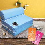 KOTAS 高週波防蹣抗菌彈簧沙發床椅- 單人3尺-藍